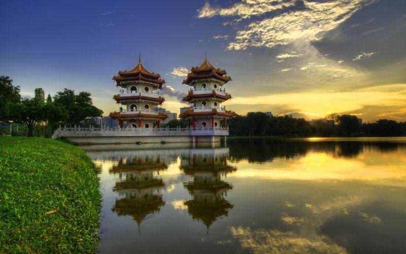China temple wallpaper