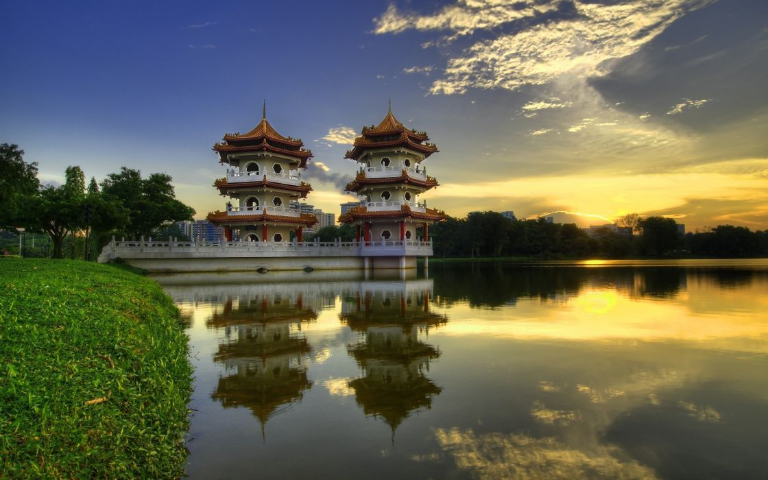 China temple wallpaper