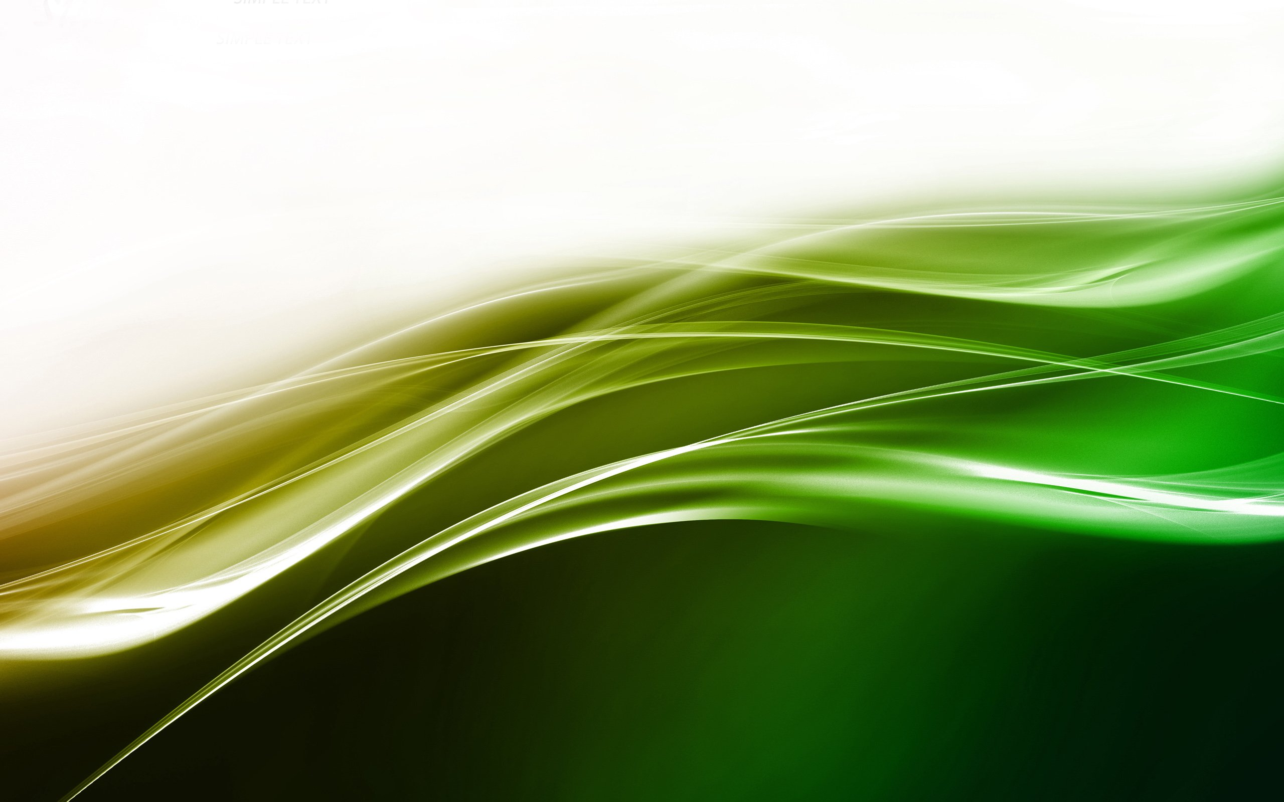 Green Abstract Design Wallpaper