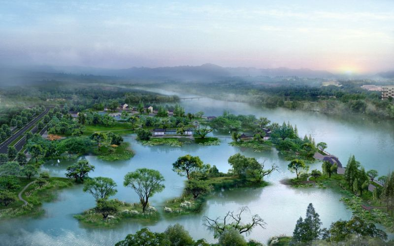 Architectural nature wallpaper