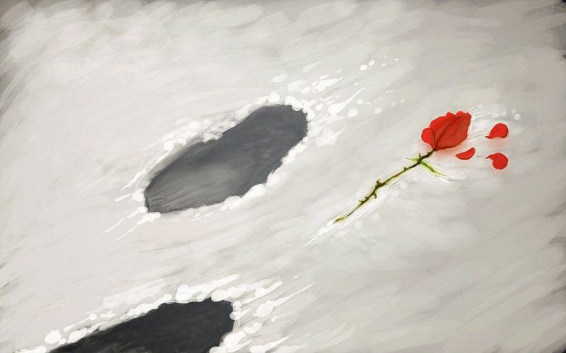 Red rose art wallpaper