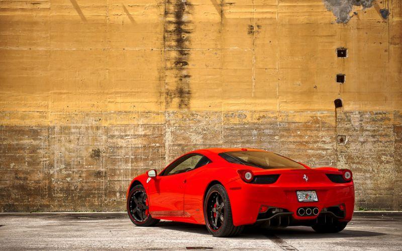 Ferrari 458 italia rear wallpaper