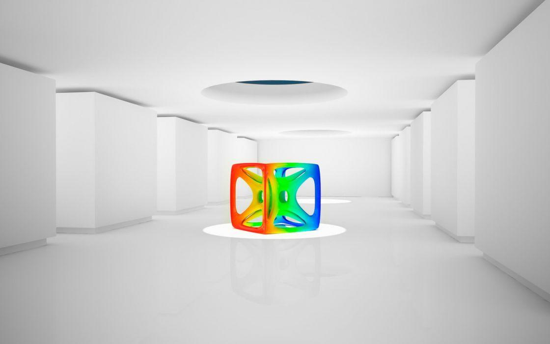 Colored cube wallpaper