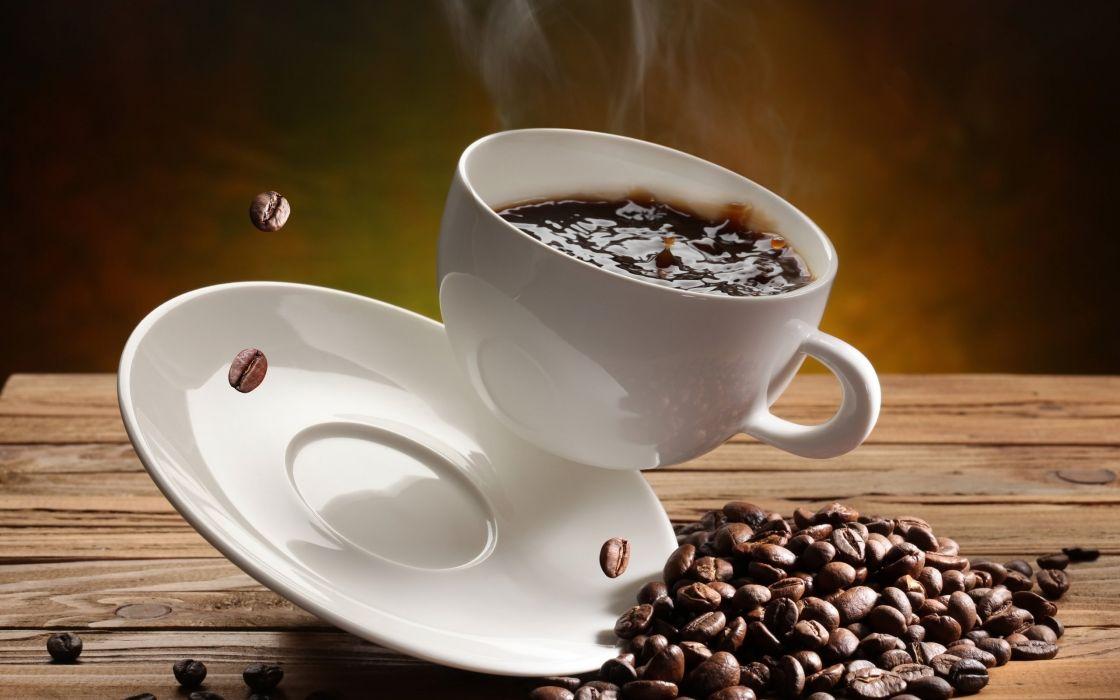 Falling coffee wallpaper