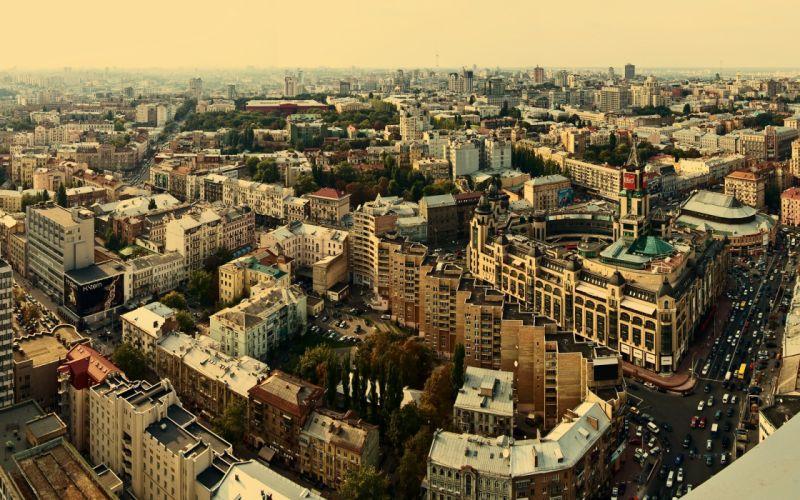 Kiev city background wallpaper