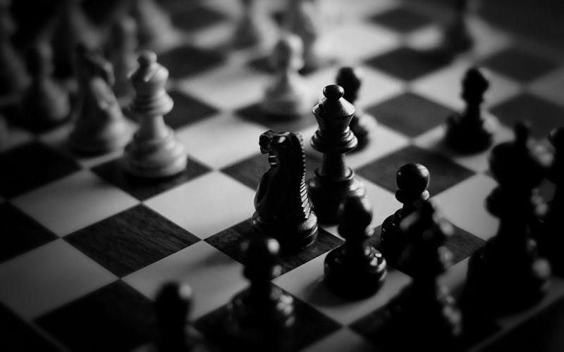Playing chess wallpaper