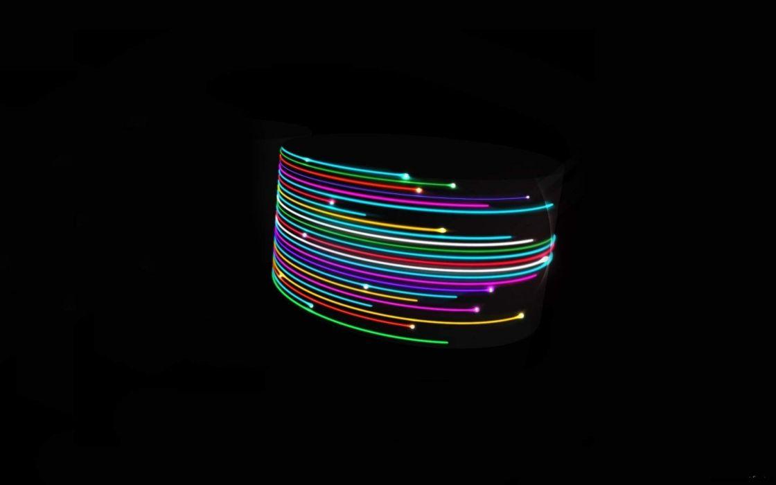 Blazing lazer lights wallpaper