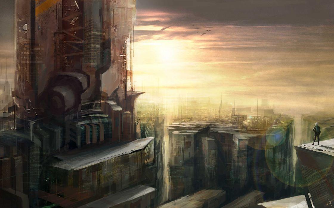 Sci fi future art wallpaper