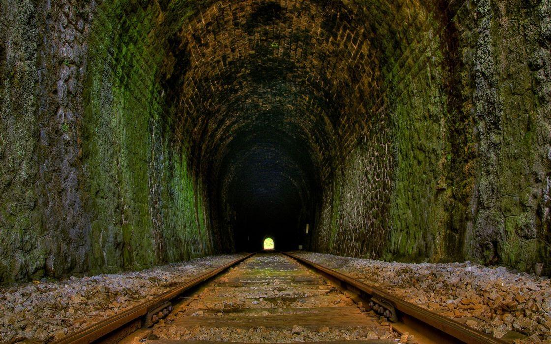 Railway tunnel wallpaper