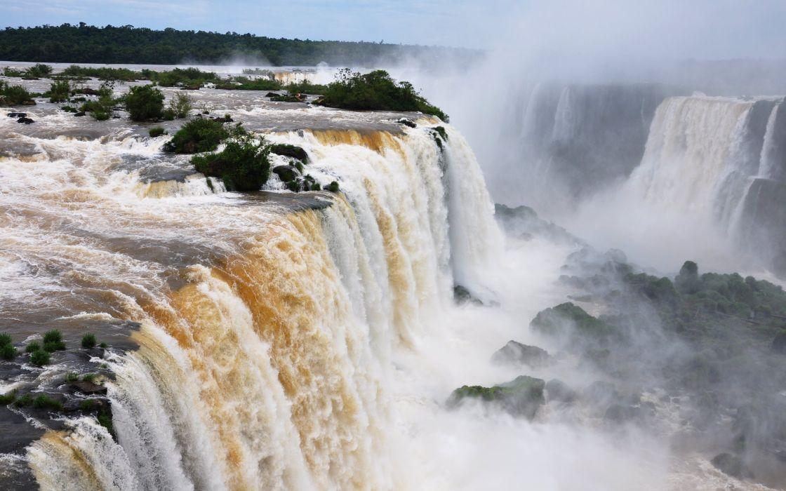 Flooded waterfall wallpaper