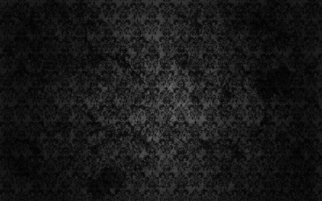Black floral grunge wallpaper