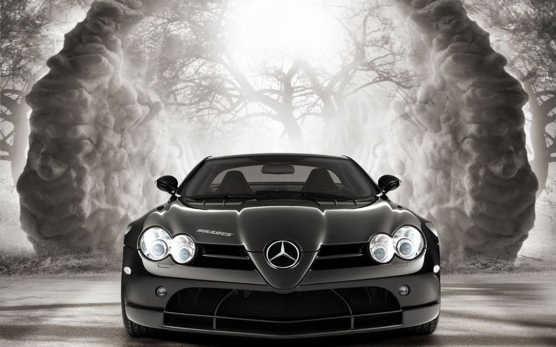 Mercedes coupe slr front wallpaper