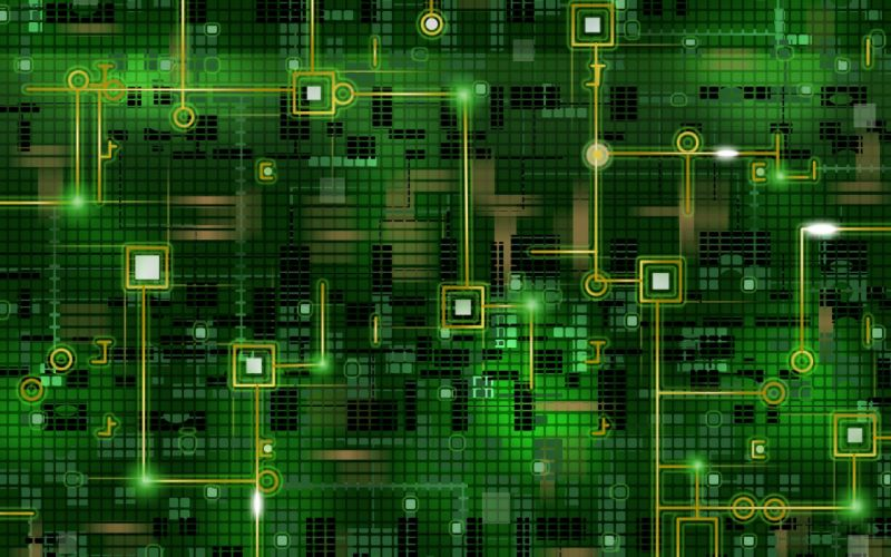 Digital matrix neon background wallpaper