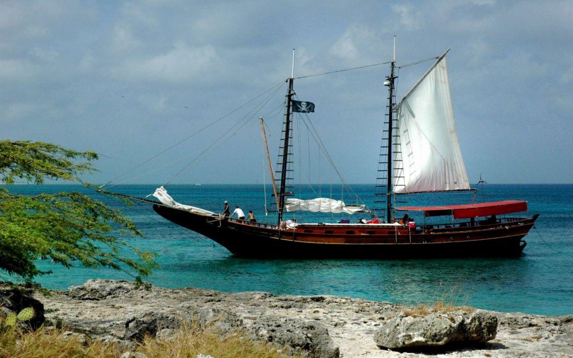 Pirates ships wallpaper