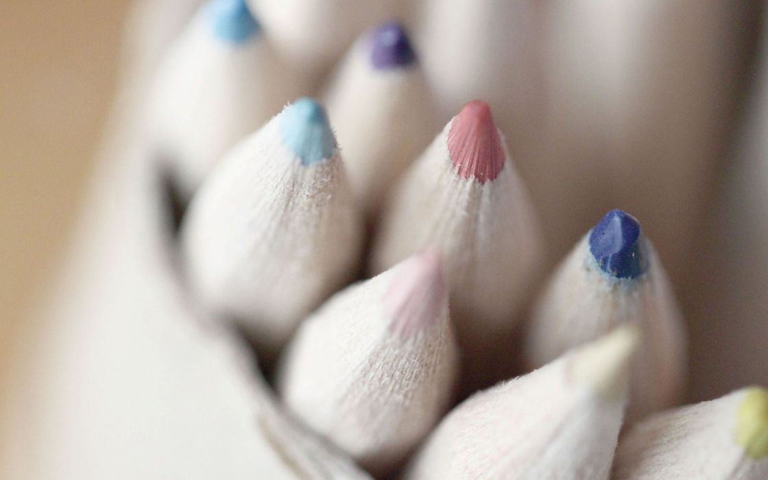 Color pencils macro wallpaper