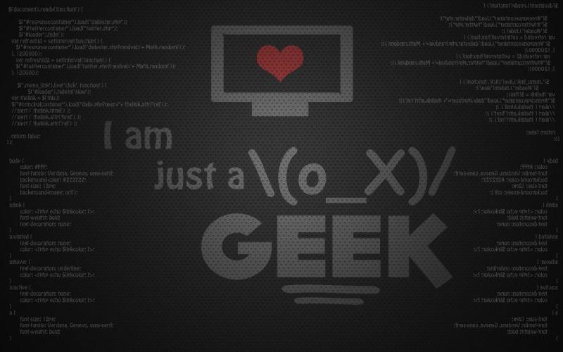 I am just ox geek wallpaper