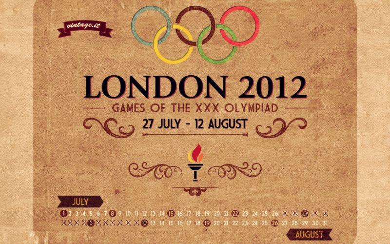 London 2012 calender wallpaper