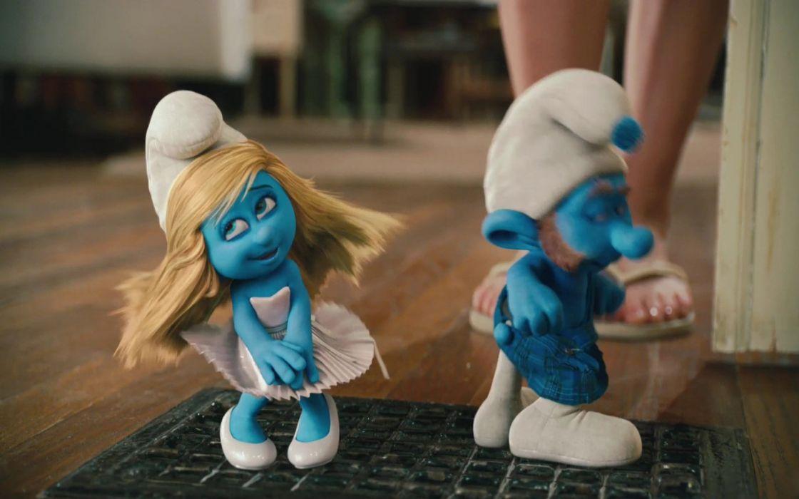 Smurfs movie stills wallpaper