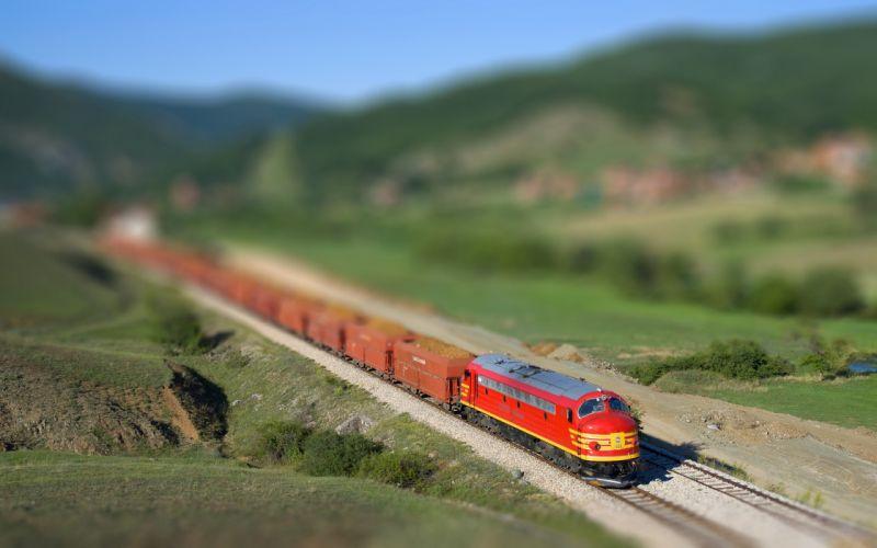 Goods transport train wallpaper