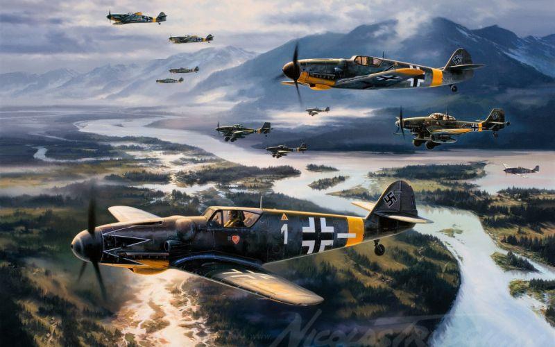 Big guns military aviation wallpaper
