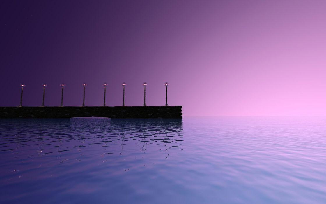 Sunset purple sky wallpaper