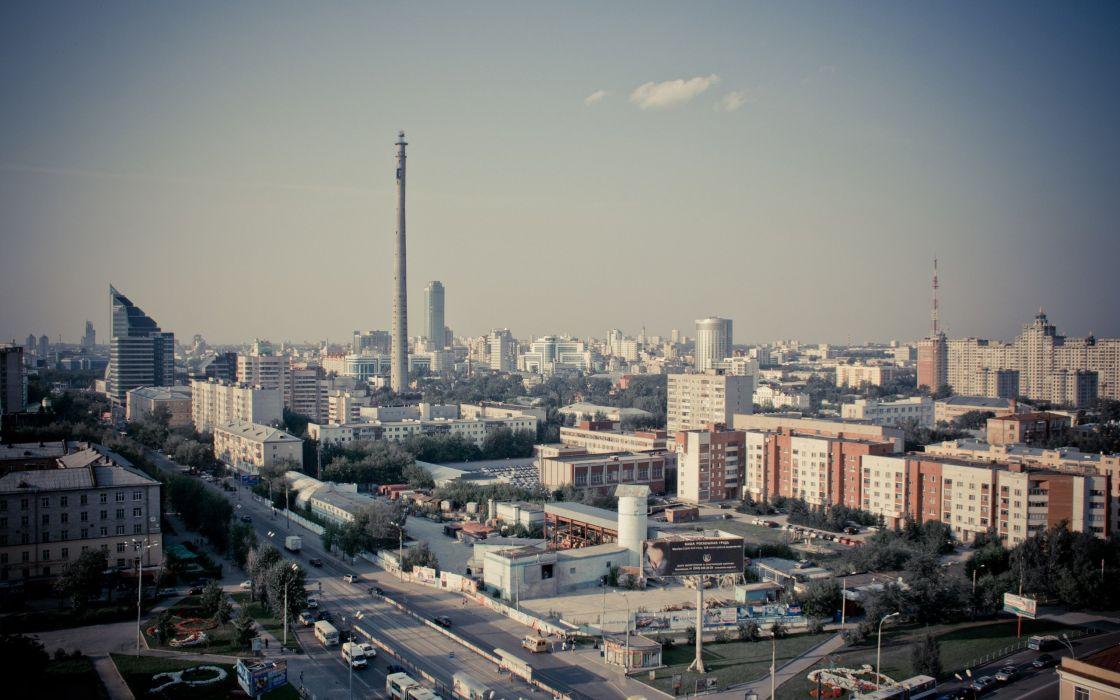 Russian city wallpaper