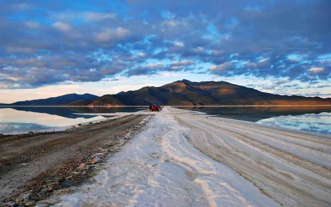 Salt desert bolivia wallpaper