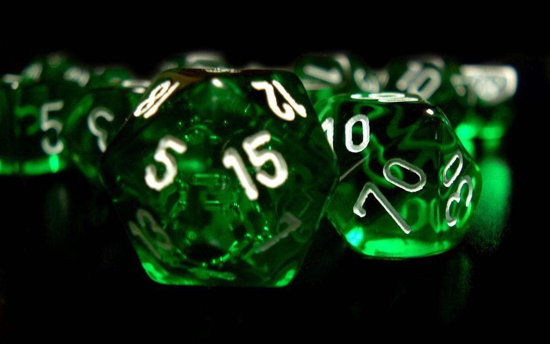 Number green dice wallpaper