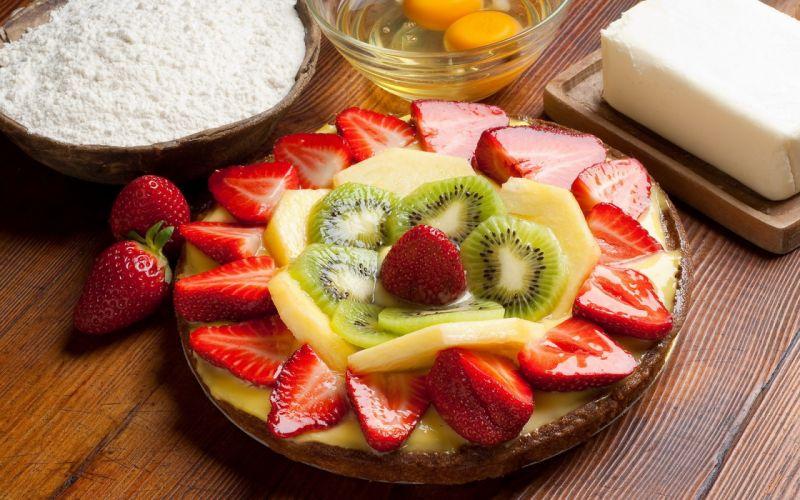 Fruit cake wallpaper