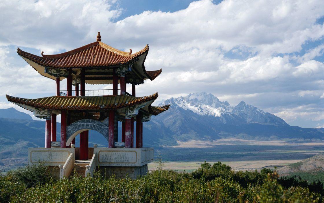 Snow mountain china wallpaper