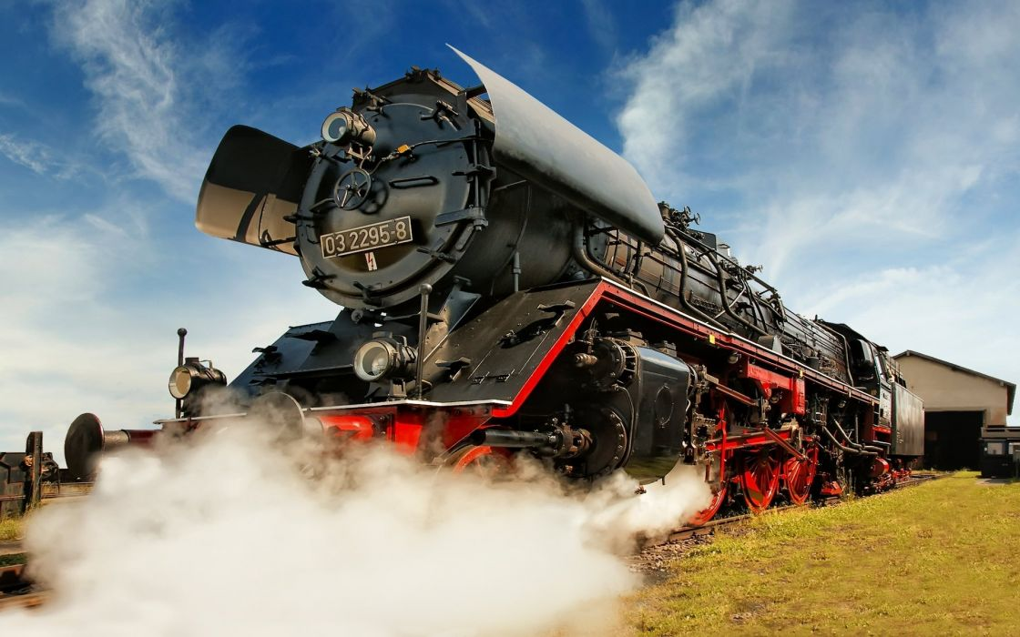 Steam railway engine wallpaper