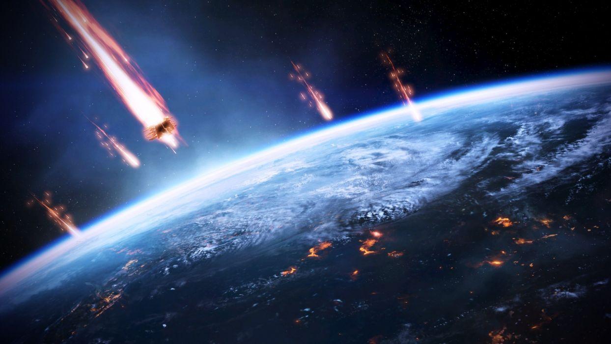 Video games earth mass effect 3 terra wallpaper