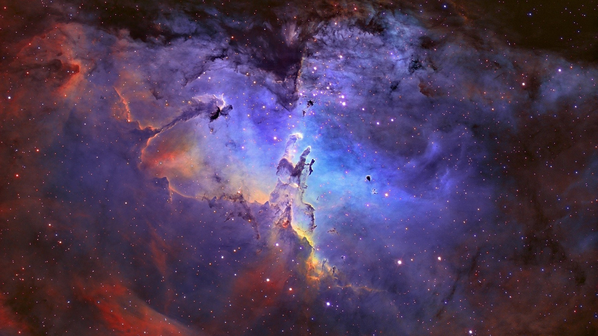 Outer space eagle nebula wallpaper | 1920x1080 | 7326 ...