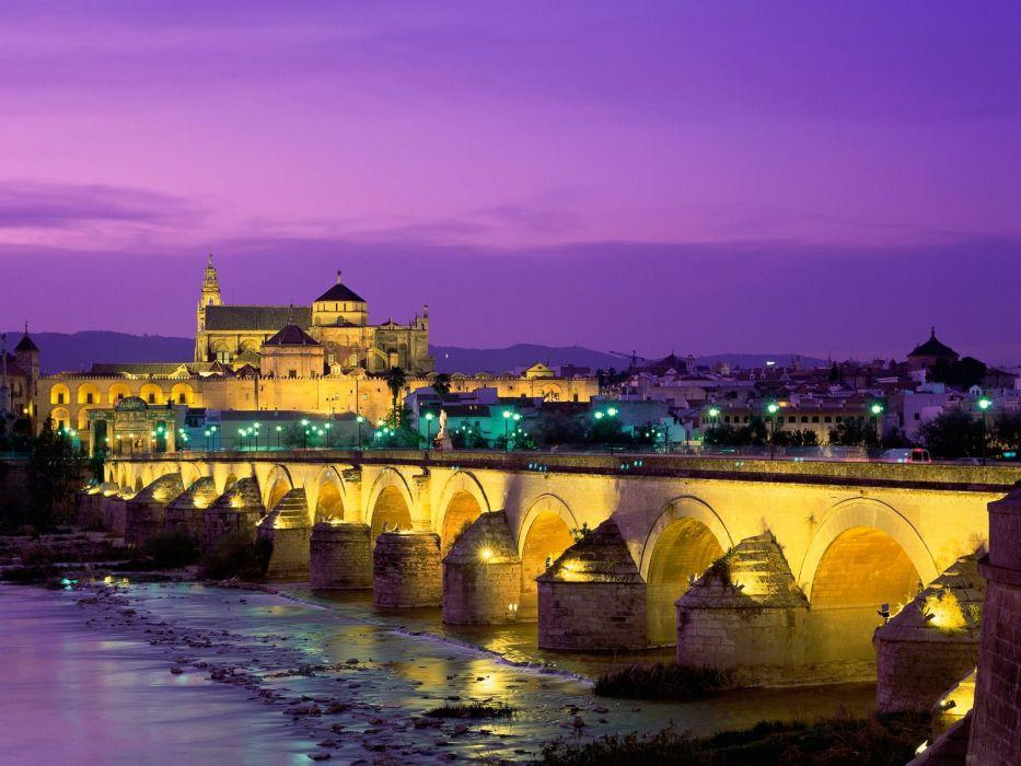 Roman bridge guadalquivir river cordoba spain wallpaper