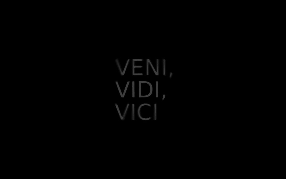 Black minimalistic text quotes backgrounds black background julius caesar veni vidi vici wallpaper