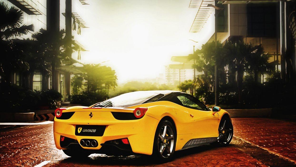 Yellow ferrari 458 italia 458 italia wallpaper