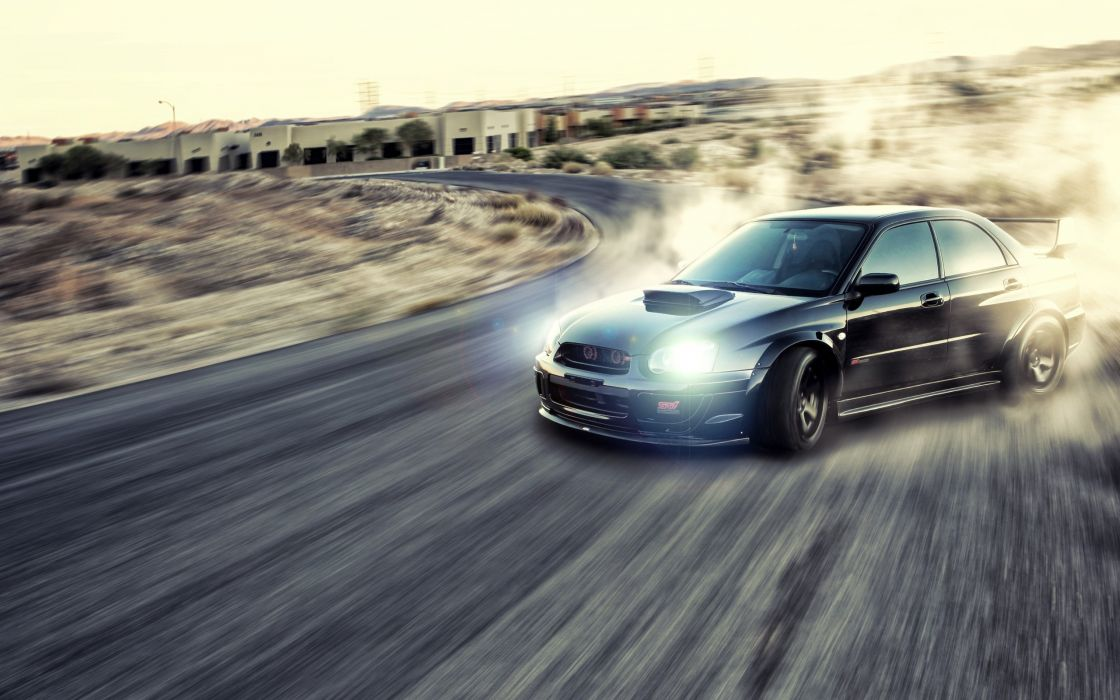 Cars dust roads drifting races jdm subaru impreza wrx sti speed wallpaper
