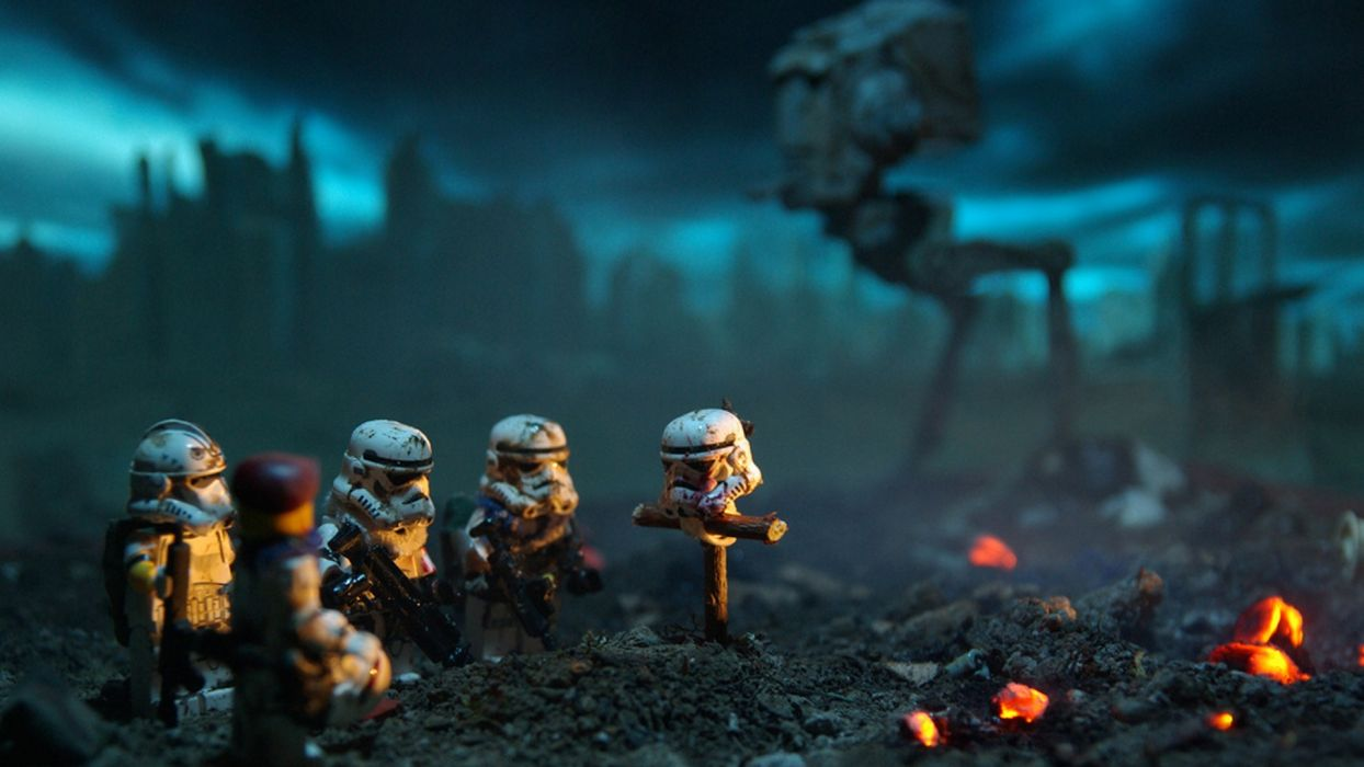 Star wars lego death stormtroopers fire wallpaper