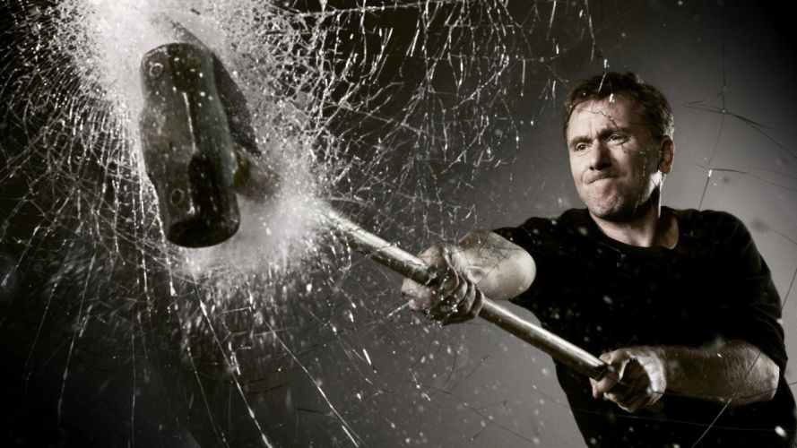 Actors tim roth lie to me smashed glass wallpaper