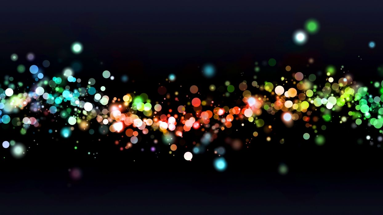 Abstract lights bokeh digital art wallpaper