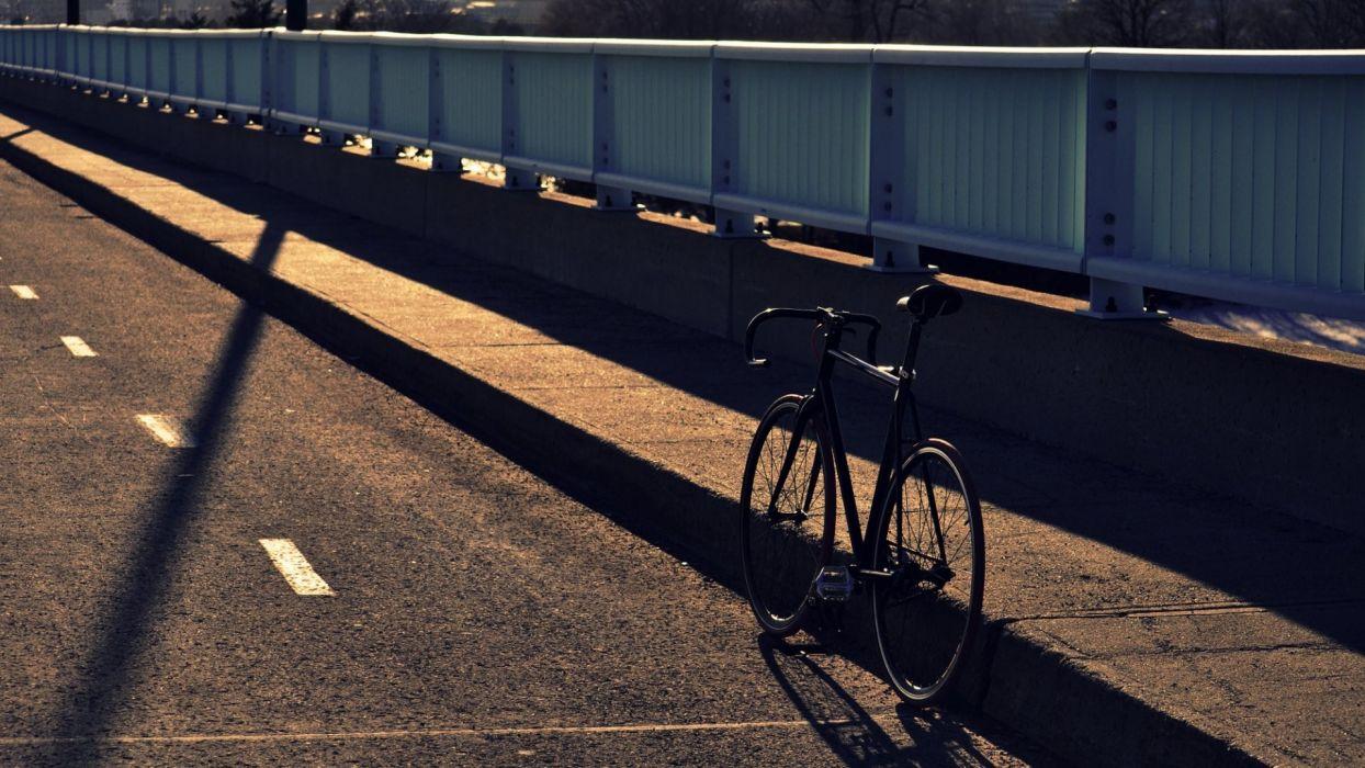 Bicycles photography bridges urban motorbikes street wallpaper