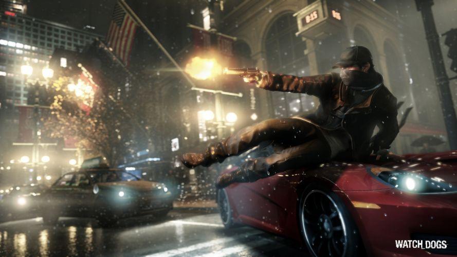 Video games guns ubisoft cyberpunk desert eagle watch dogs wallpaper