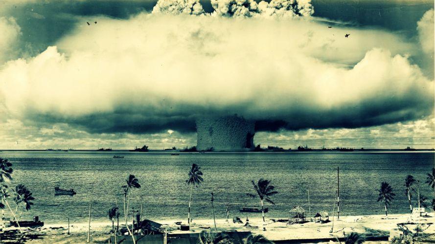 Explosions nuclear bombs bikini atoll wallpaper