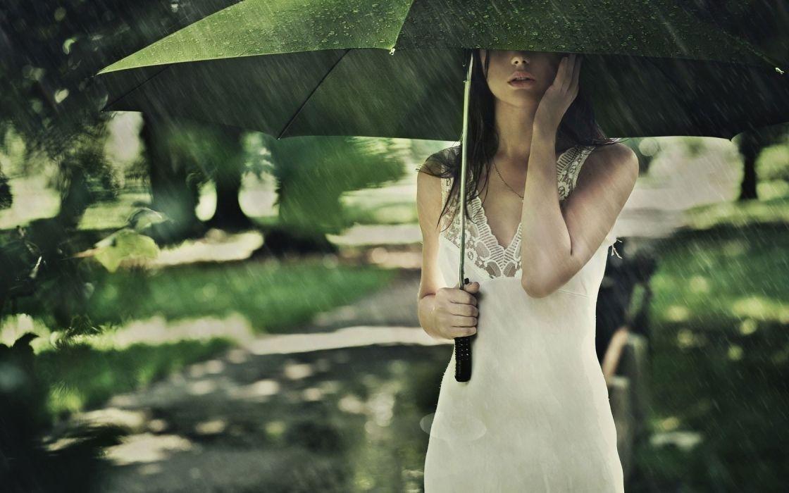 Women dress rain umbrellas moskovskaya wallpaper