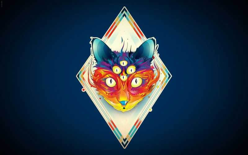 Abstract fox illustrations romanian photomanipulations photoshop work wallpaper