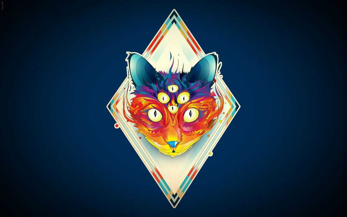 Abstract fox illustrations romanian photomanipulations photoshop work wallpaper
