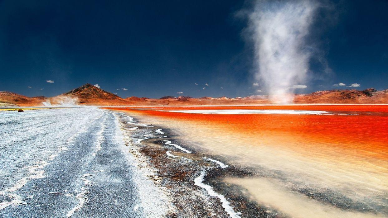 Landscapes dust bolivia swirls wallpaper