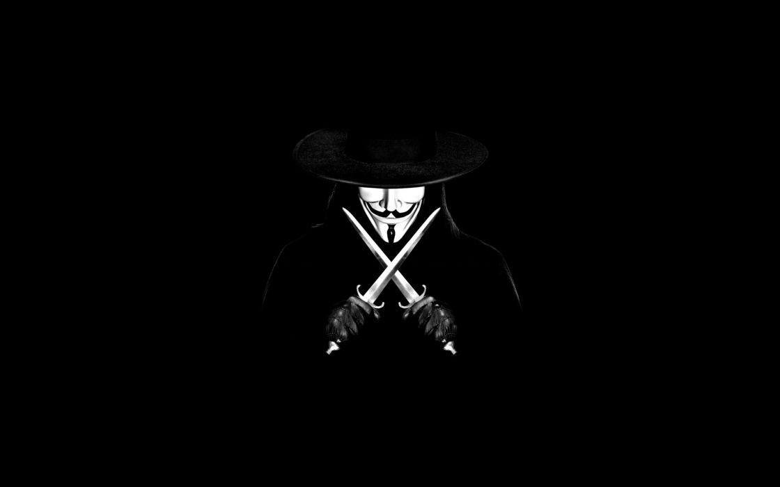 Anonymous movies masks guy fawkes v for vendetta swords black background liberty wallpaper