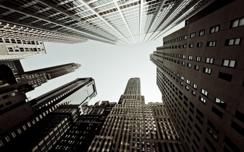 Architecture blocks buildings new york city skyscrapers cities wallpaper