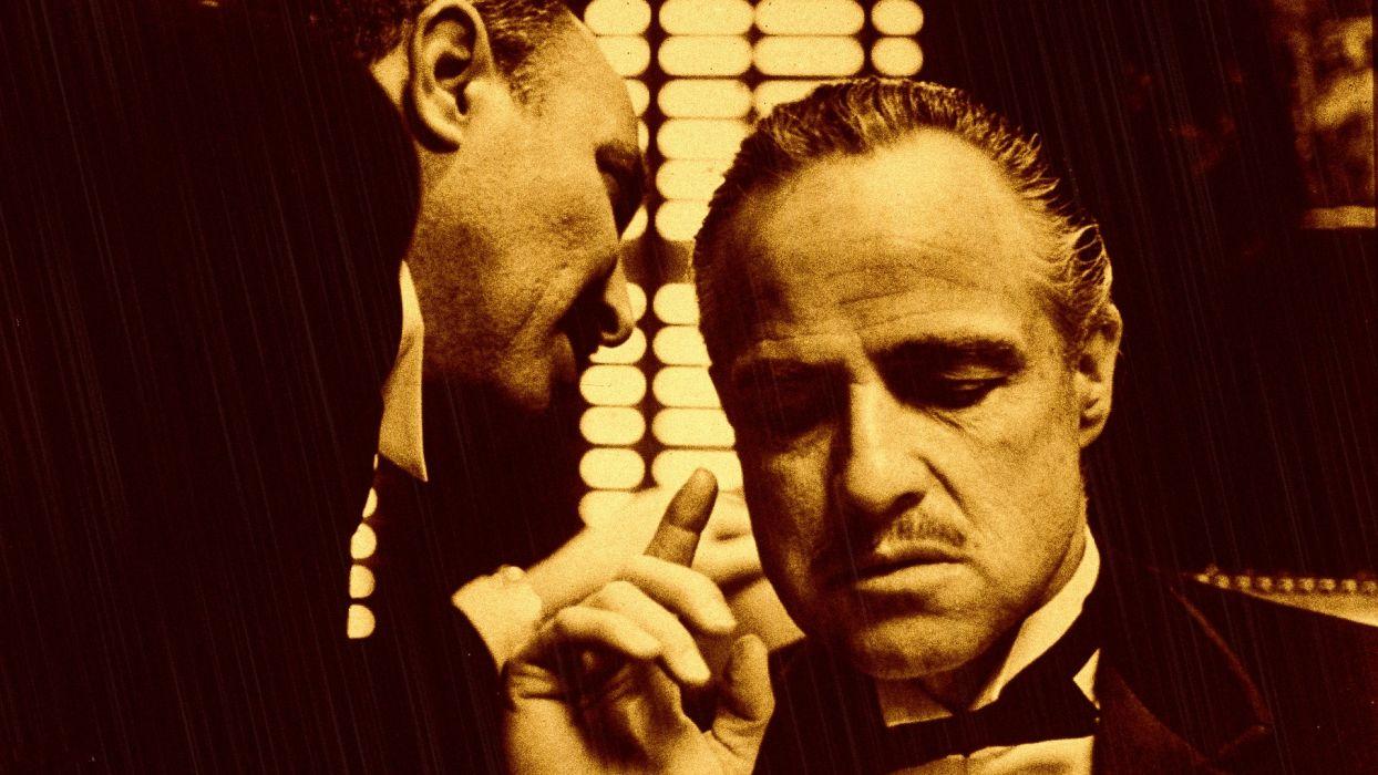 Movies the godfather vito corleone marlon brando remake wallpaper